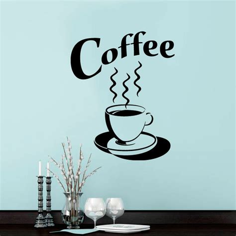 retro kitchen wall stickers coffee cup wall sticker tea kitchen retro vinyl decal