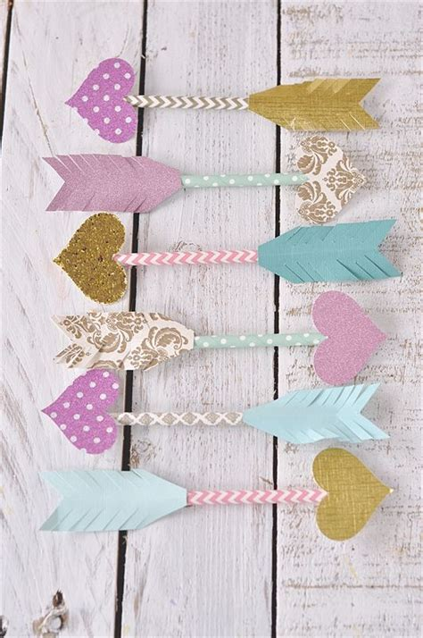 Paper Straw Crafts - paper straw arrows dress up your card or gift