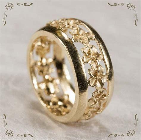 Wedding Rings Hawaii by Hawaiian Wedding Rings Hawaiian Plumeria Flower Eternity