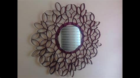 decorar un espejo con papel marco para espejo con tubos de cart 243 n reciclado youtube