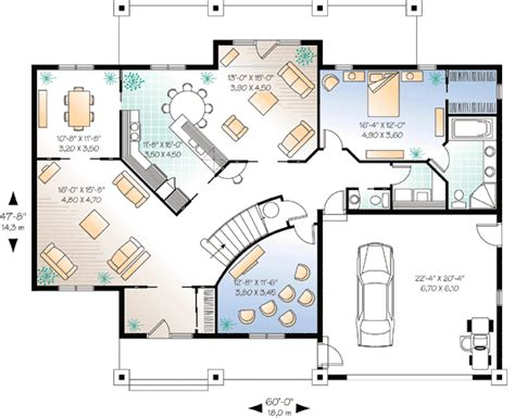 Home Theater Floor Plans Flowing Living Spaces And A Home Theater 2159dr 1st