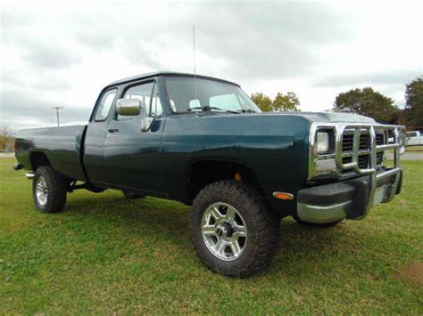 texas 1993 dodge power ram w250 cummins 5 9 diesel 12 valve 5 speed 4x4 cold a c for sale