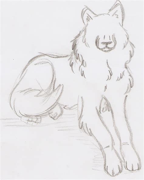 sketchbook easy simple wolf sketch by lonewolfshadowuchiha on deviantart