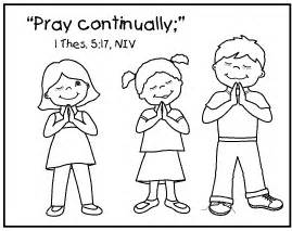 Jesus teaches us to pray colouring pages
