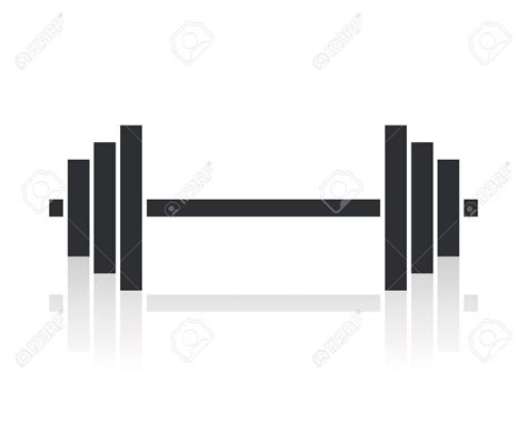 barbell tattoo 18661650 dumbbell weights symbol stock vector barbell