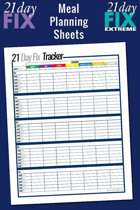 printable meal planner for 21 day fix free printable 21 day fix meal planning sheets facebook