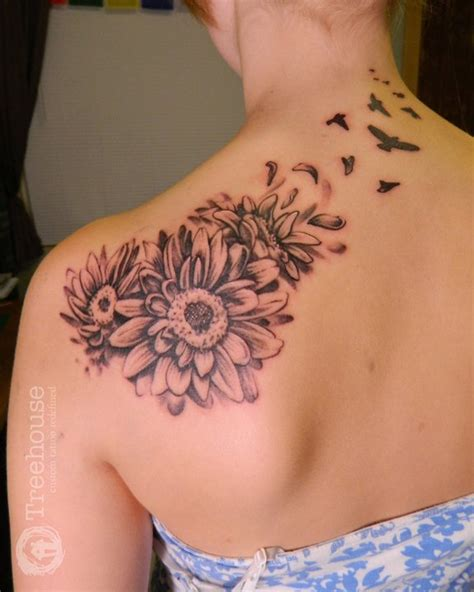 gerbera daisy tattoo on pinterest aster tattoo white