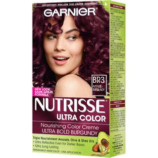 garnier hair colour models garnier br3 intense burgundy ultra color nourishing color
