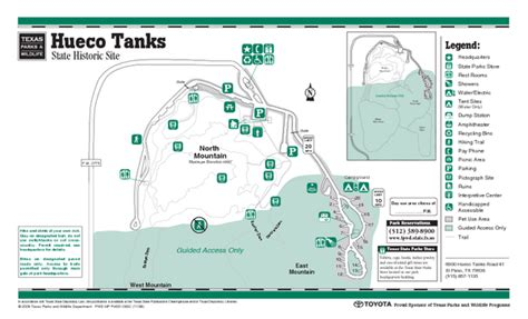 texas state parking map hueco tanks texas state park facility and trail map hueco tanks texas mappery