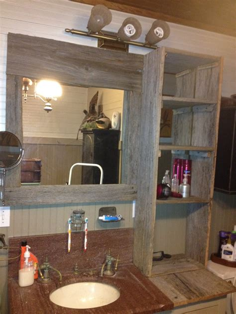 bathroom mirror units bathroom mirror mirror frame and shelf unit we made from