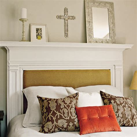 fireplace headboard make a mantel your headboard southern living