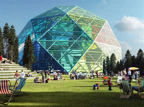 Tiny Homes Florida big unveils a luminescent geodesic dome biomass power