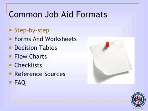 designing job aids