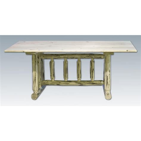 Unfinished Kitchen Table Montana Woodworks Trestle Base Dining Table Unfinished 140567 Kitchen Dining At