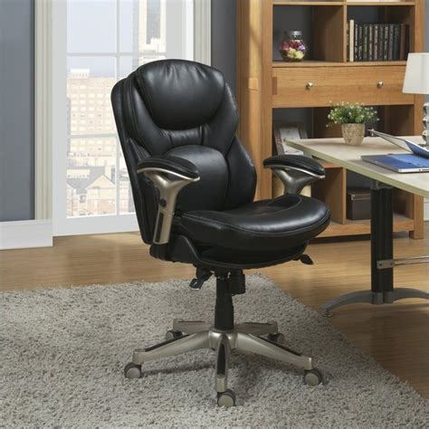 True Innovations Simply Comfortable Bonded Leather Executive Chair by Serta By True Innovations Serta Back In Motion Office