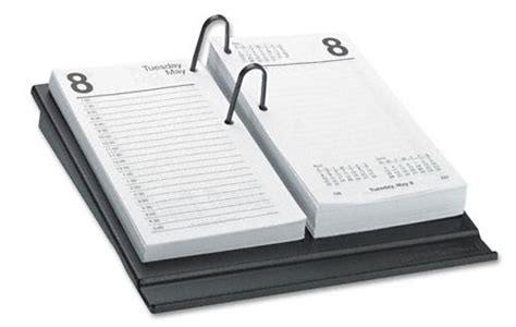 one color daily desk calendar refill geographics
