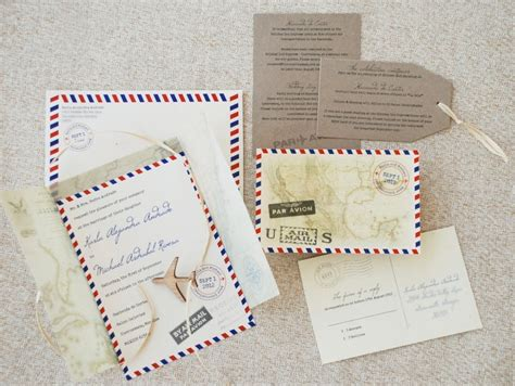 Wedding Announcement Mail by Air Mail Wedding Announcements