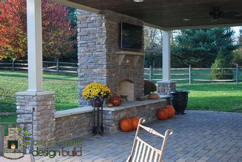 Backyard Decks Pictures Cincinnati Outdoor Fireplace