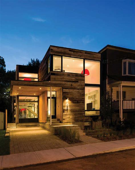 modern home design ottawa ecohouse canada 2 zen barn 80 year old siding helps