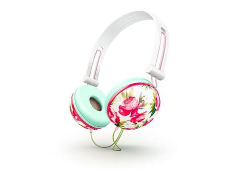 Flower Design Headphones | 266 best images about print pattern on pinterest