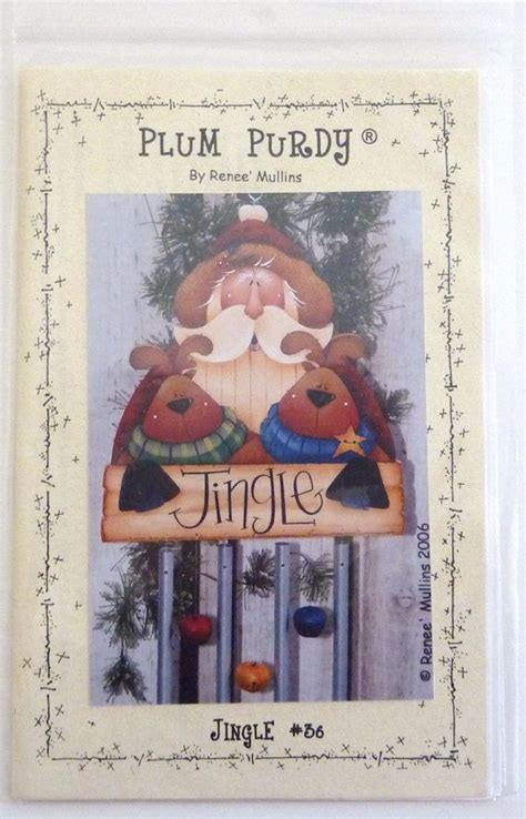 watercolor pattern packets santa jingle wind chime from plum purdy by renee mullins