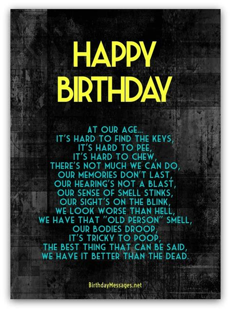 funny birthday poems page