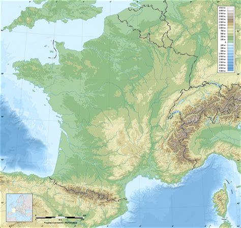 Fond de carte de France du relief