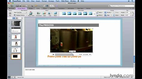 tutorial powerpoint to video powerpoint how to insert video clips lynda com tutorial