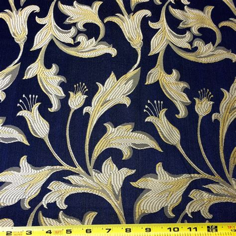 Blus Jaquard Blus Natal Mewah navy blue gold jacquard damask print fabric 120 quot wide fabric wholesale direct