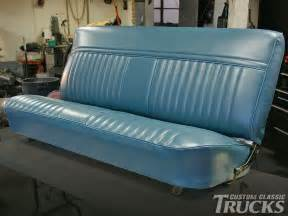 chevy bench seat covers bench seat reupholstery for 1973 1987 chevy c10 s hot rod network