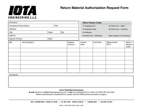 return material authorization form template best photos of material request form template material