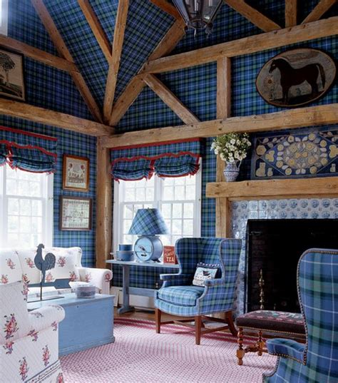 How To Make Tartan Work In A Living Room Living Room Interior Decorating Ideas