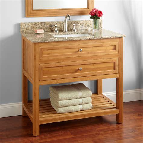 undermount sink bathroom vanity 36 quot thayer bamboo vanity for rectangular undermount sink
