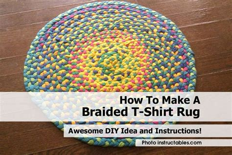 how to make a rug how to make a braided t shirt rug