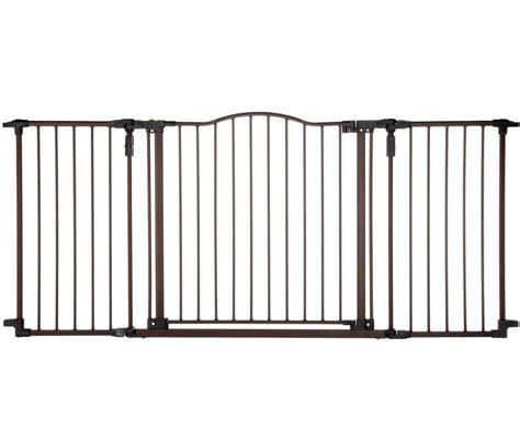 wide gates baby safety gate w door wide metal expandable walk thru fence child ebay