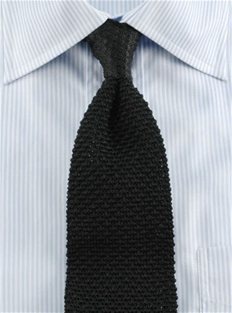 black silk knit tie classic silk knit tie in black