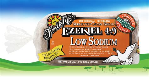ezekiel 4 9 low sodium sprouted whole grain bread food for life