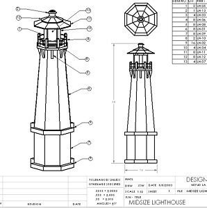 lighthouse patterns woodworking pdf plans wood lighthouse plans how to build wood