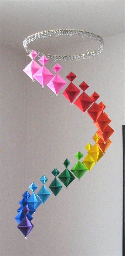Unique Origami Projects - 33 creative 3d wall projects meant to beautify your