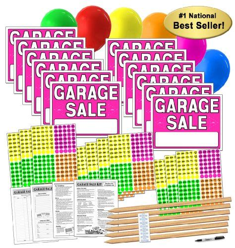 Garage Sale Site by Garage Sale Sign Kit With Pricing Stickers And Wood Sign