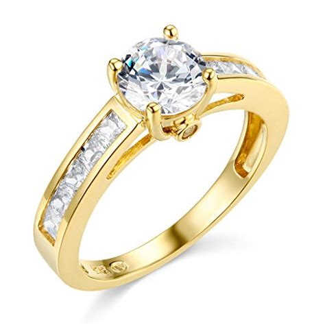 14k white gold solid wedding engagement ring size 4