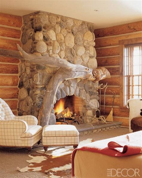 design house decor com love the large piece of driftwood to create the mantel for