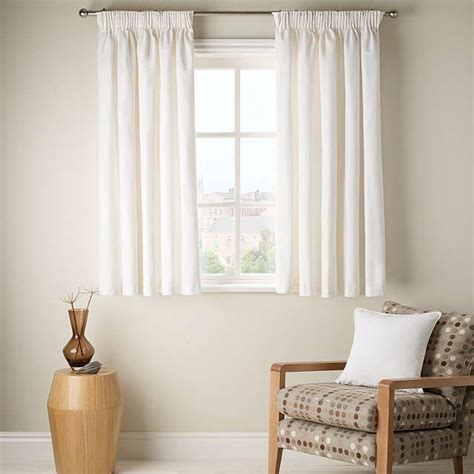short curtains for bedroom windows buyjohn lewis cotton rib lined pencil pleat curtains
