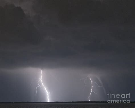 Waterspout With Lightning by Image Gallery Waterspout Lightning