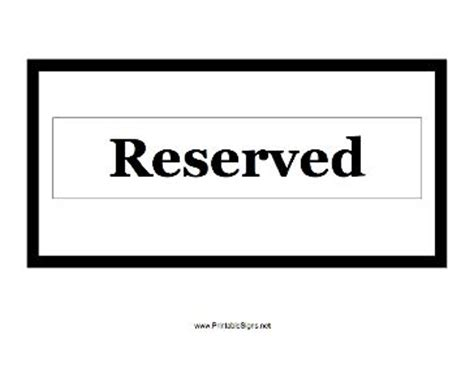 This Room Is Reserved Sign by Use This Small Printable Sign To Show That A Room Office Table Or Anything Else Is Reserved