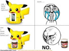 Meme No Face - no face meme pikachu nutella humor that i love
