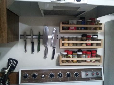 over the cabinet spice rack diy above stove shelf 4 steps with pictures