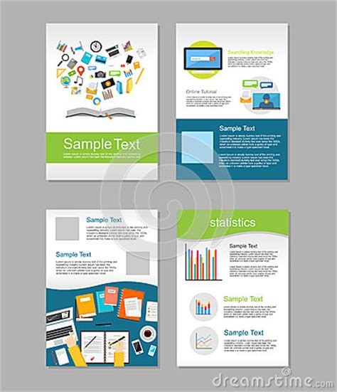brochure design templates for education set of flyer brochure design templates education infographic concept e learning concept
