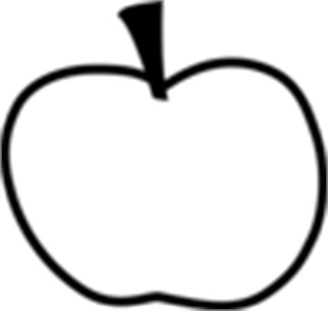 Apple Outline Png by Apple Outline Clip At Clker Vector Clip Royalty Free Domain
