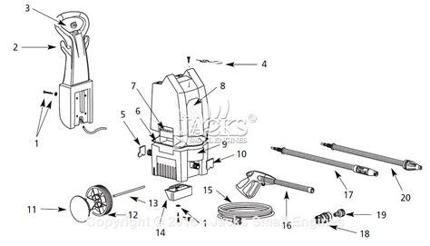 pressure washer diagram cbell hausfeld pw1380 parts diagram for pressure washer